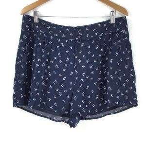 LC Lauren Conrad Floral Blue Short Women Size 14